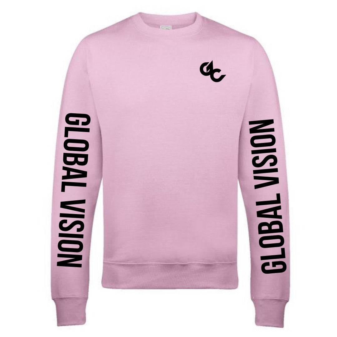 Double Global Vision Unisex Sweatshirt- COTTON CANDY PINK