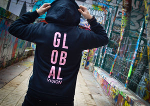 The Global Vision Hoodie - PINK PRINT