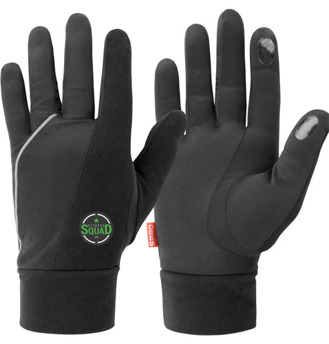 Fitness Squad UK Black Running Gloves