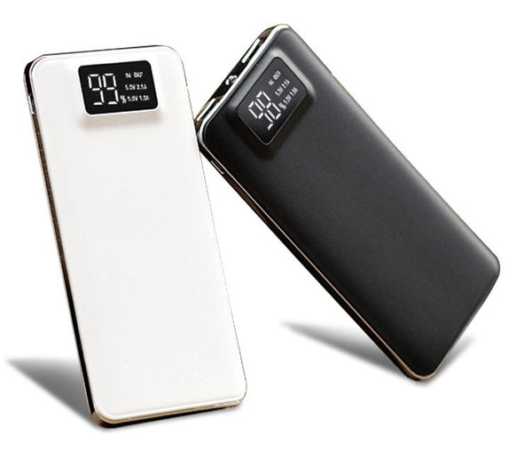 Quick 20000mah Power Bank External Battery charge Dual USB LCD Powerbank Portable Mobile phone Charger for phone 18650