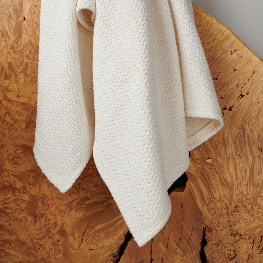 Waffle Blankets and Throws - Natural