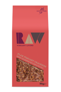 Raw Vibrant Living Piquant raw crackers 90g