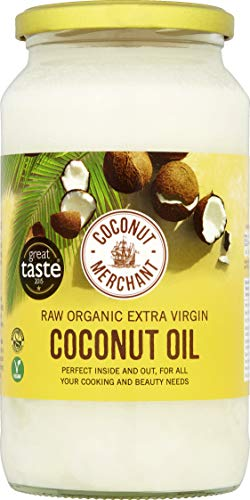 Coconut Merchant Organic Coconut Oil 1L | Extra Virgin, Raw, Cold Pressed, Unrefined | Ketogenic and 100% Natural