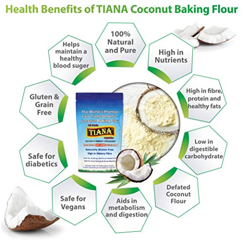 Organics Coconut Flour Gluten Free Low Carb Flour for Baking 500g