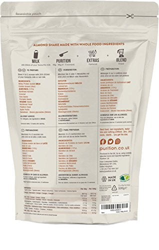 Coffee & Walnut Natural Protein Powder for Keto Diet Shakes and Meal Replacements Shakes, 1 Bag (12 Serving)