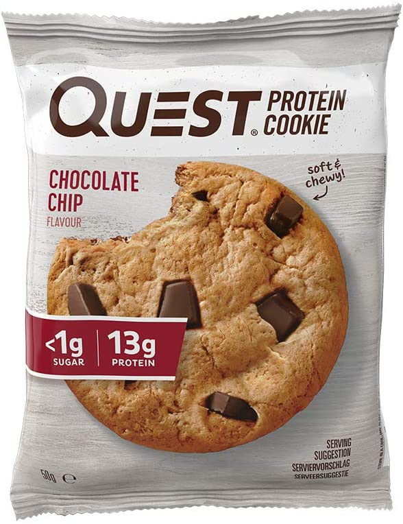 Quest Nutrition Double Chocolate Protein Cookie, High Protein, Low Sugar, High Fibre, Keto Friendly, 12-Count