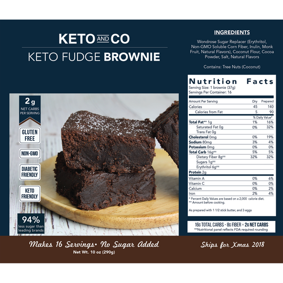 Keto Chocolate Brownie Mix
