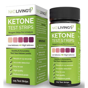 Ketone Test Strips - 125 Strips