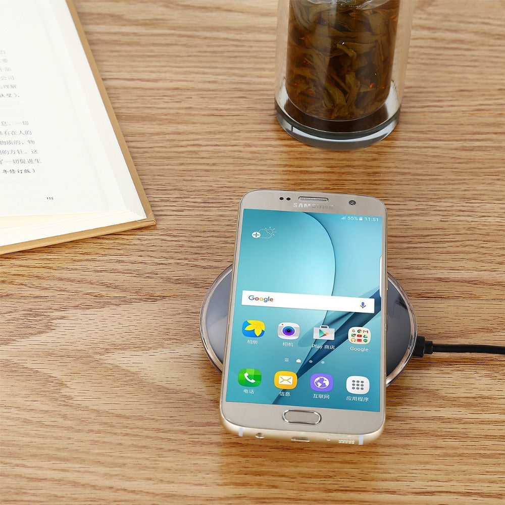 Wireless Charger USB Charge Pad For iPhone X 8 Plus Samsung Galaxy S8 S9 Plus S6 S7 Edge Note 8 Elephone P9000