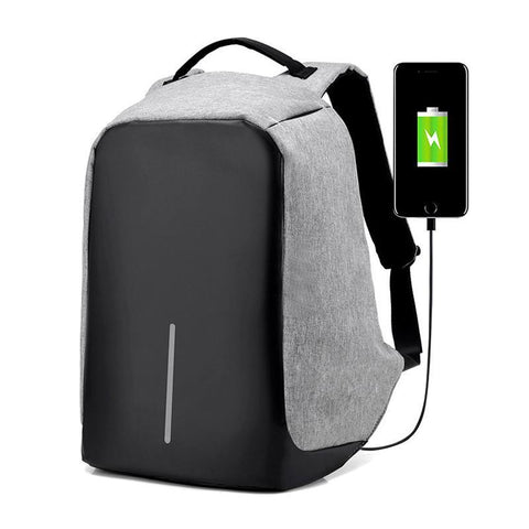 USB Charge Anti Theft Backpack Men Travel Security Waterproof