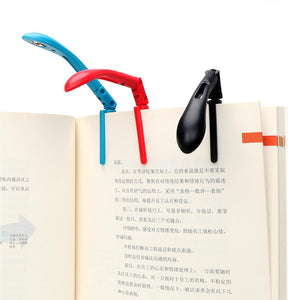 Clip-on Book Reading Lamp with Battery Folding LED