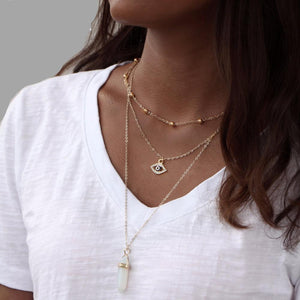Multi-Layered Choker Necklace