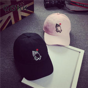 Rose In Hands Baseball Cap