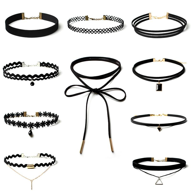10 Piece Lace Choker Set