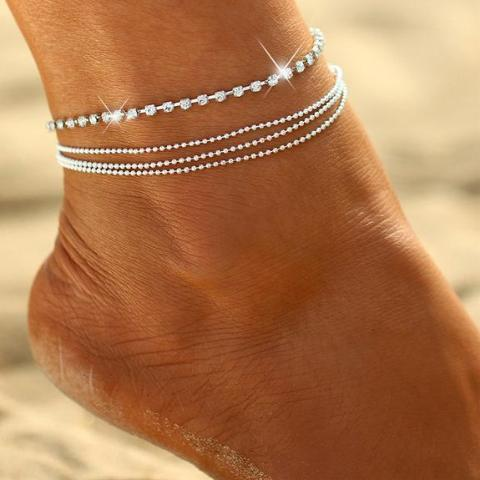 Quad Anklet Crystal Loop