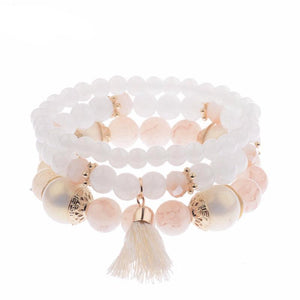 3 Piece Multi Brush Bracelet Set