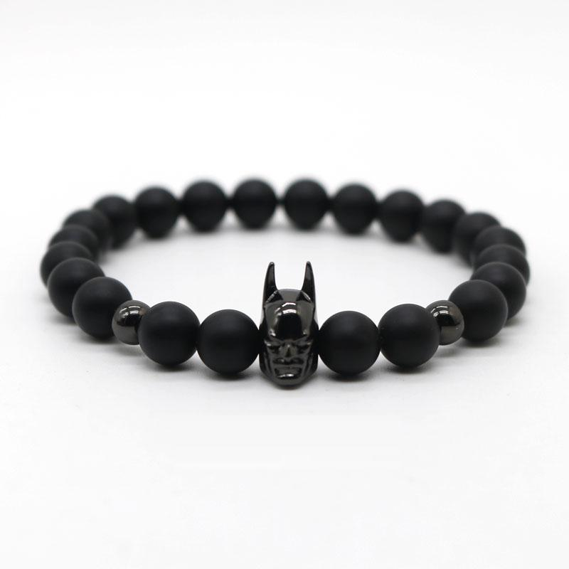 Batman Beaded Bracelet