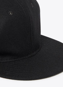 Black Wool Ballcap