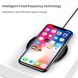 IsThy - 10W Qi Wireless Charger Pad With Fast Charging Black