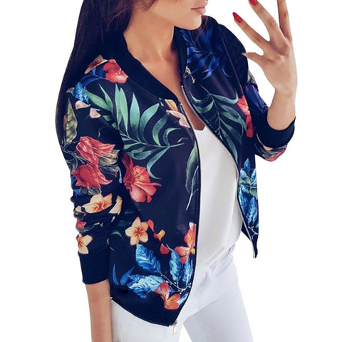Flower Autumn  Casual Jacket