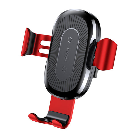 IsThy - Car Mount Qi Wireless Charger with Quick Charging Red