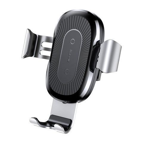 IsThy - Car Mount Qi Wireless Charger with Quick Charging Silver