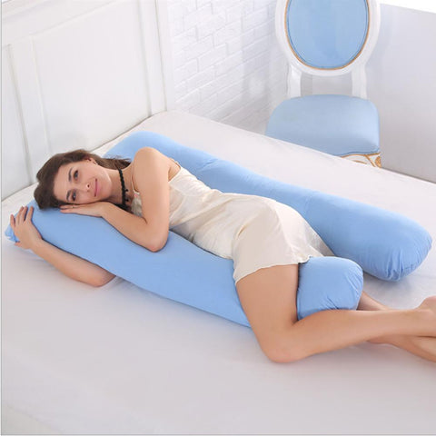 U-Shaped Cotton Sleeping Support Pillow For Pregnant Women
