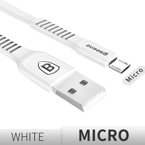IsThy - 25cm Flat Micro USB Fast Charging Data Cable