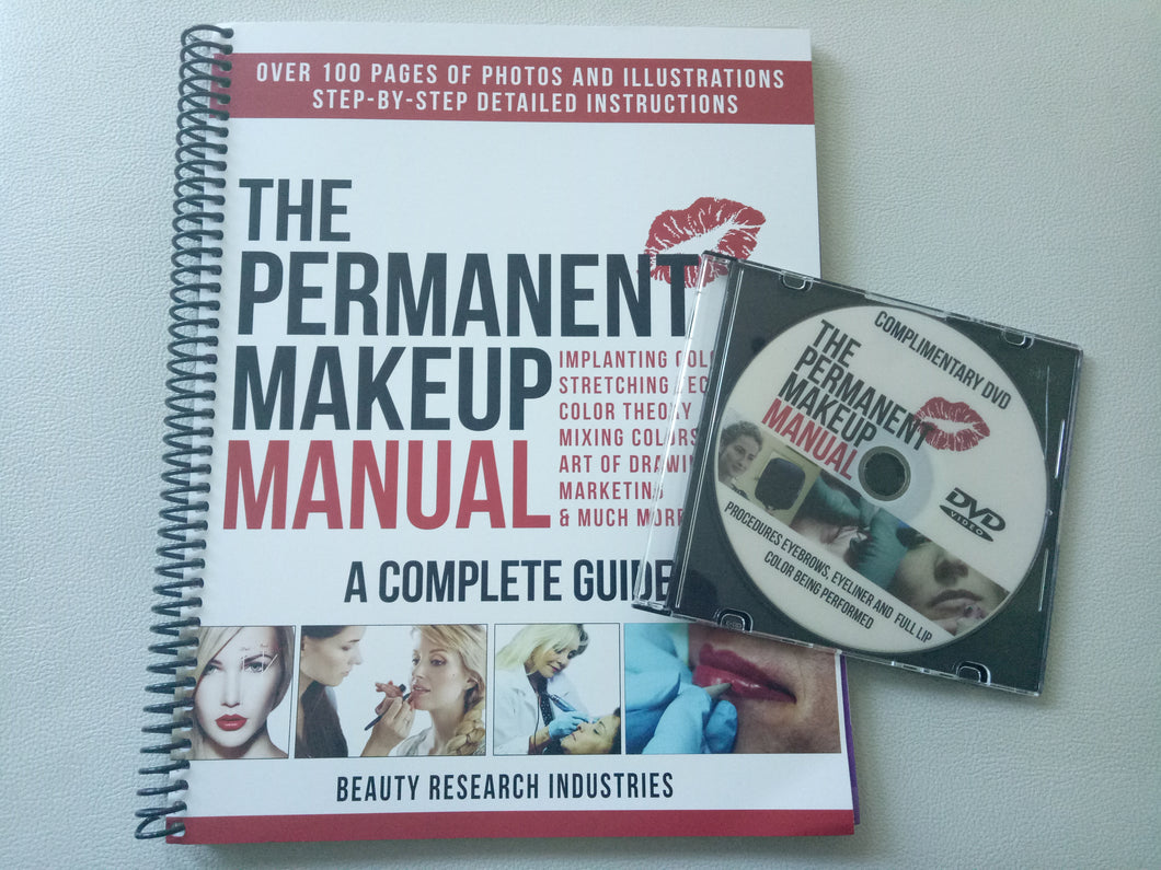 Permanent Make Up Manual w/ Complementary DVD - permanentmakeupacademyph