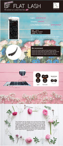 0.15mm, J curl, Mix tray (BF Flat Lash Extension)