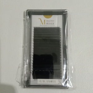 Mirage Black Velvet Lash Extension C curl 0.15 Mix tray