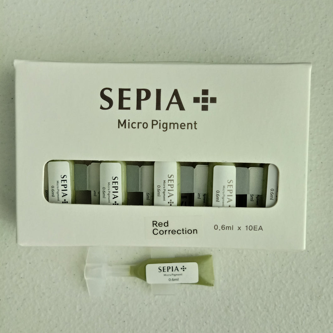 Sepia Red Correction 0.6ml (choice of Per Piece or 1 box of 15 pieces)