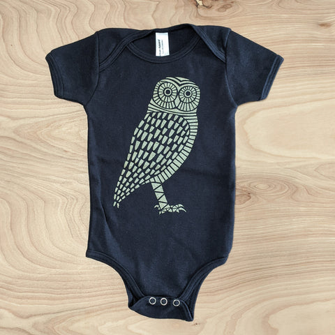 Gold Owl Baby One Piece