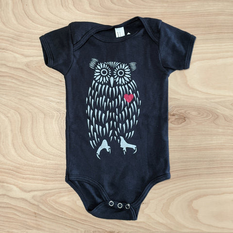 Owl Heart Baby One Piece