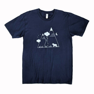 Bear Mountain Navy Blue T-Shirt