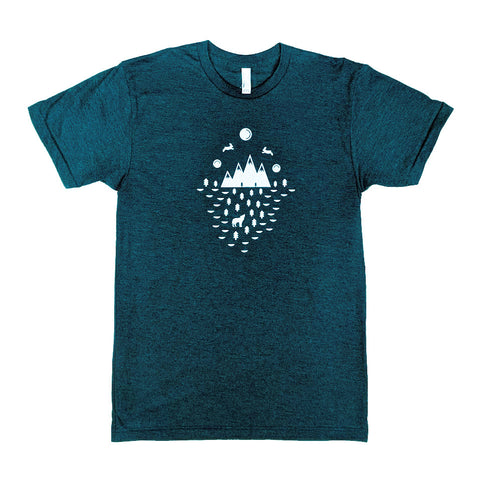 Bunny Moons Heather Aqua T-Shirt