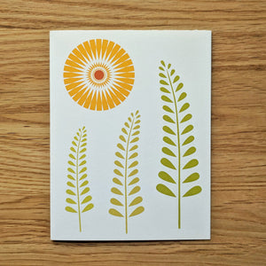 Sun Ferns Greeting Card