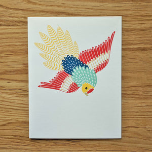 Diving Parrot Greeting Card