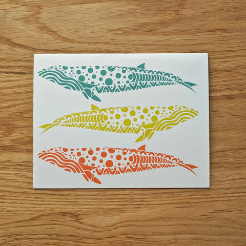 Three Whales Greeting Card