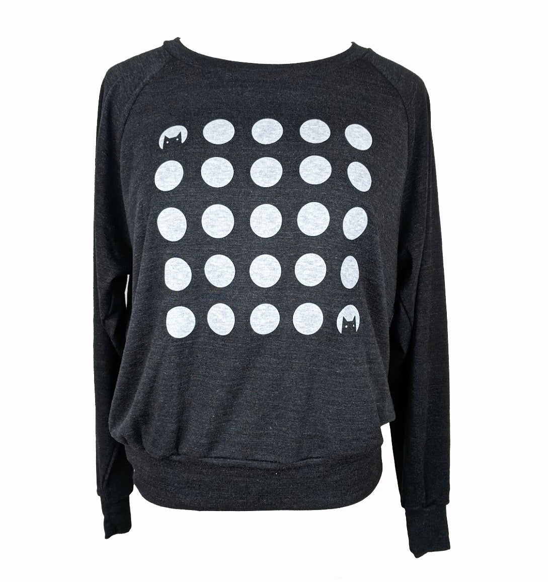 Cat Dot Moons Sweatshirt