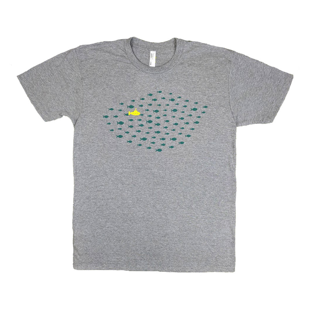 Fish Yellow Submarine Heather Gray T-Shirt
