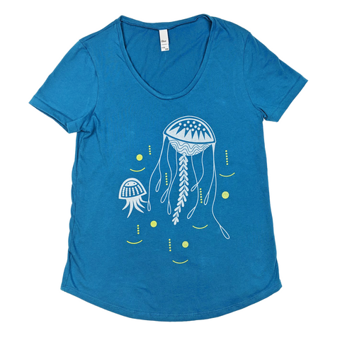 Jellyfish Scoop Neck T-Shirt