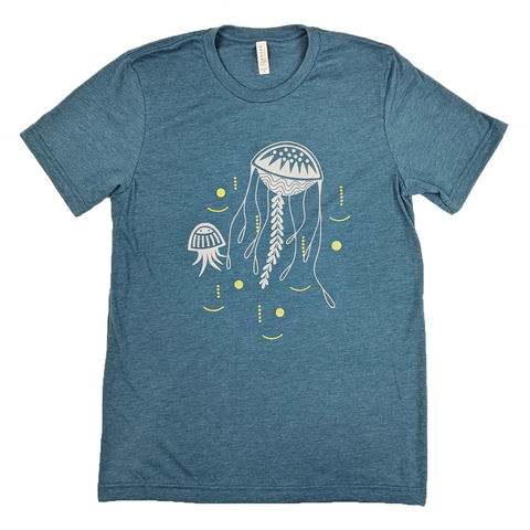 Jellyfish Heather Teal T-Shirt