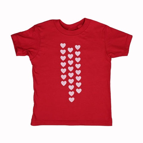 Raining Hearts Kids T-Shirt