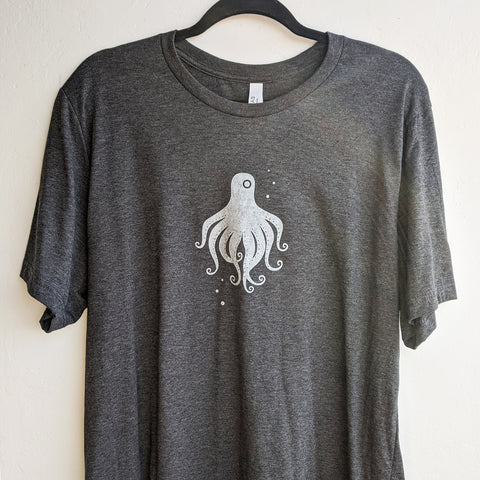 Silver Octopus Heather Black T-Shirt