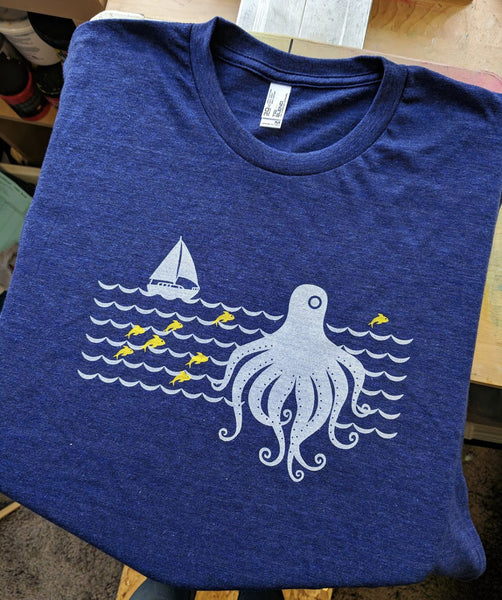 Octopus Sailboat T-Shirt
