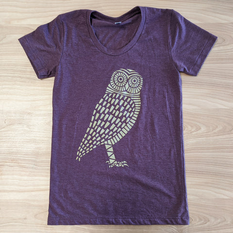 Owl Heather Plum T-Shirt