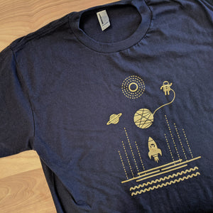 Space Mouse Navy Blue T-Shirt