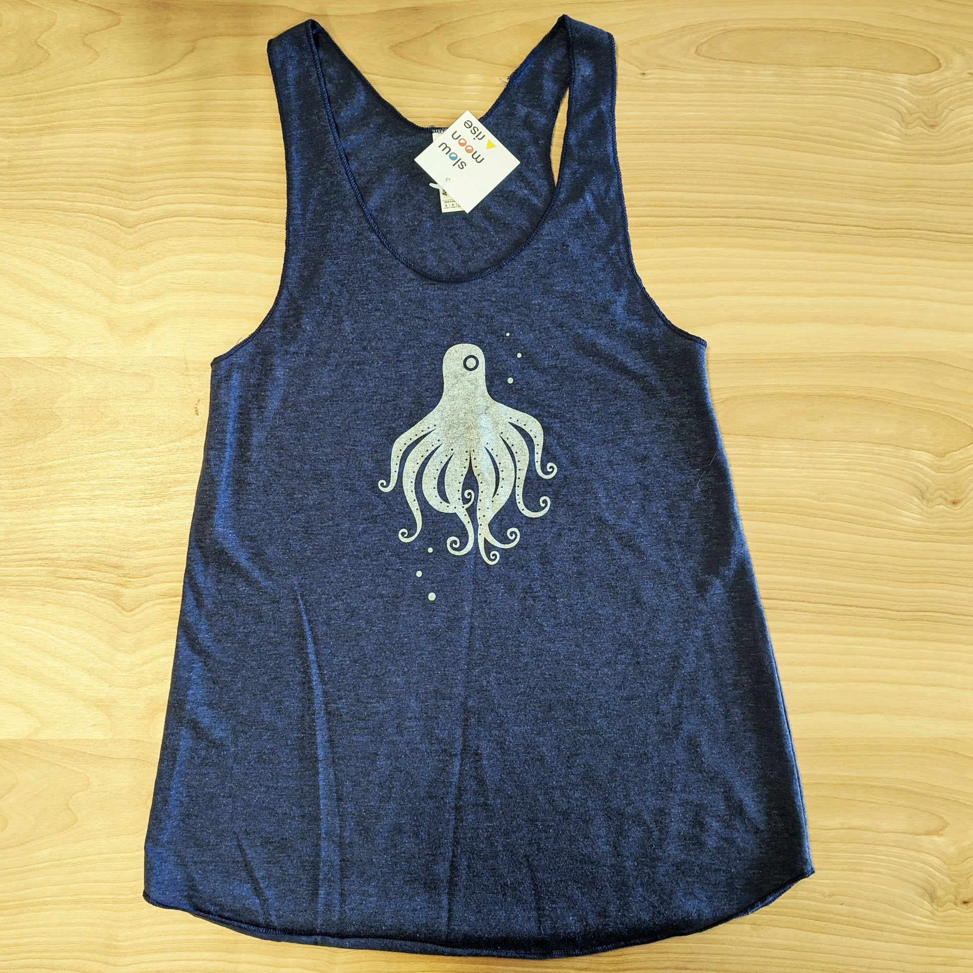 Silver Octopus Tank Top - Blue