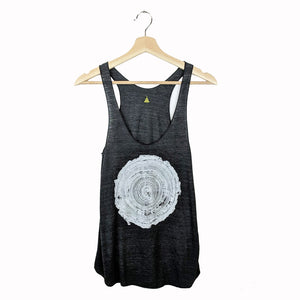 Tree Rings Tank Top on Black